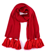 Ruby Red - Maxi Tassel Muffler