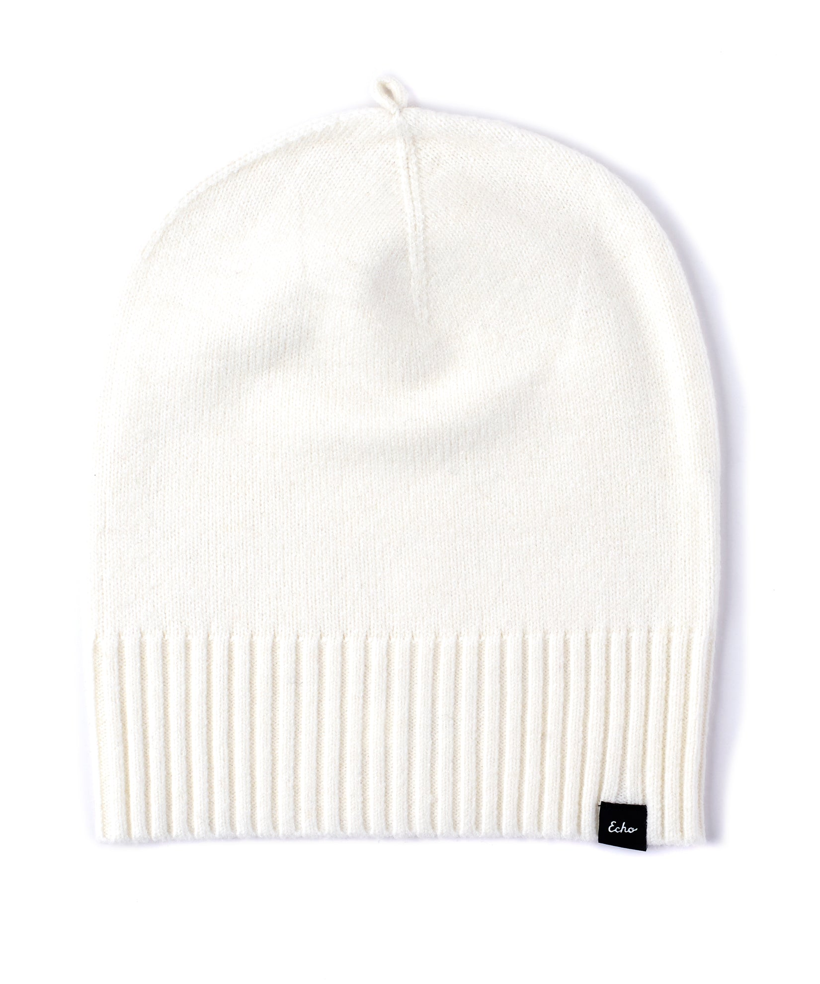 Echo Ivory - Active Stretch Slouchy Beanie