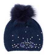 Echo Navy - Embellished Slouchy Hat