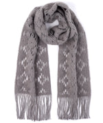 Echo Silver - Brushed Crochet Floral Muffler