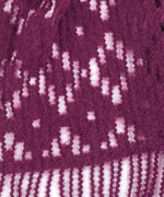 Pickled Beet - Brushed Crochet Floral Muffler