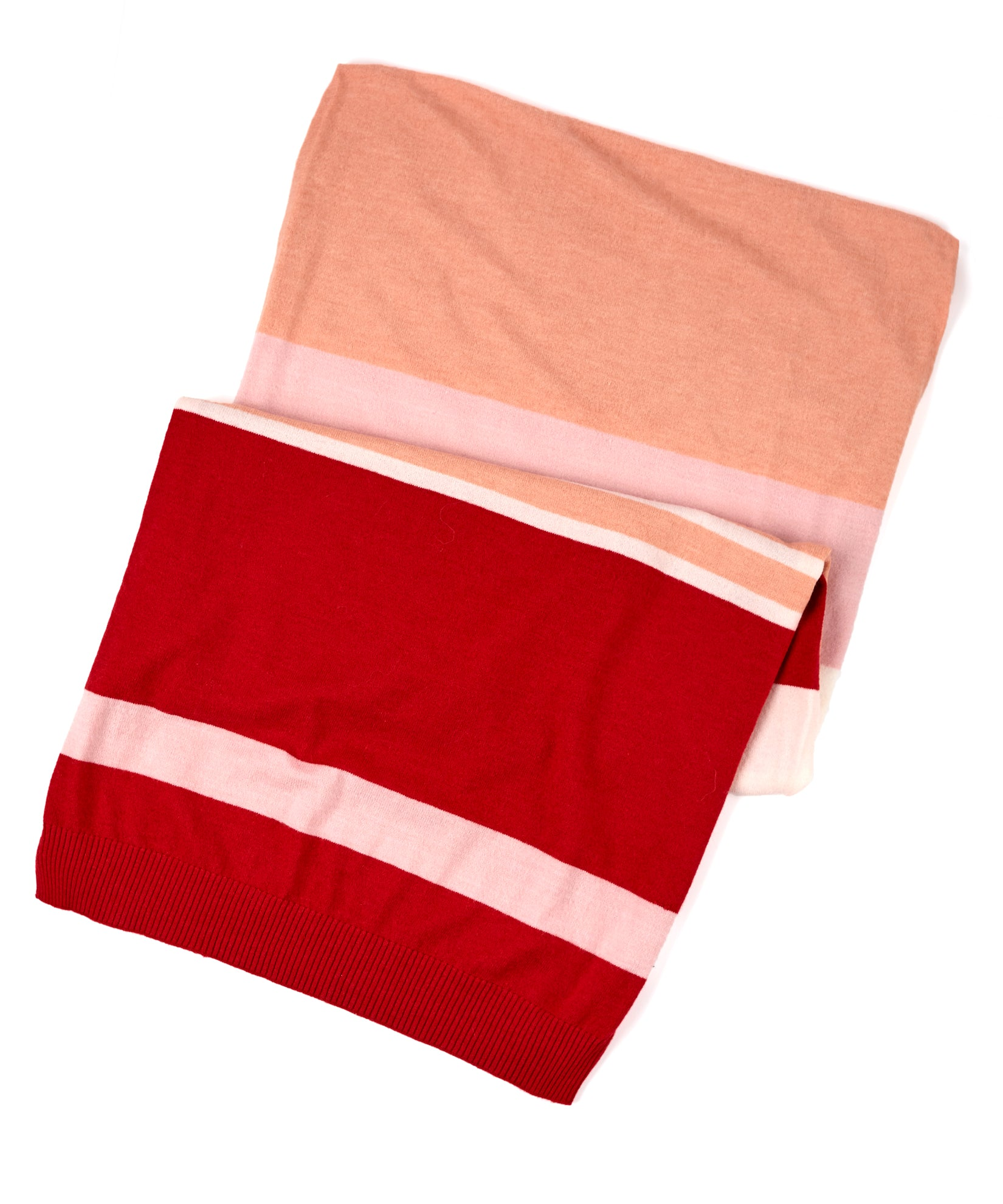 Ruby Red - Active Stretch Color Block Muffler