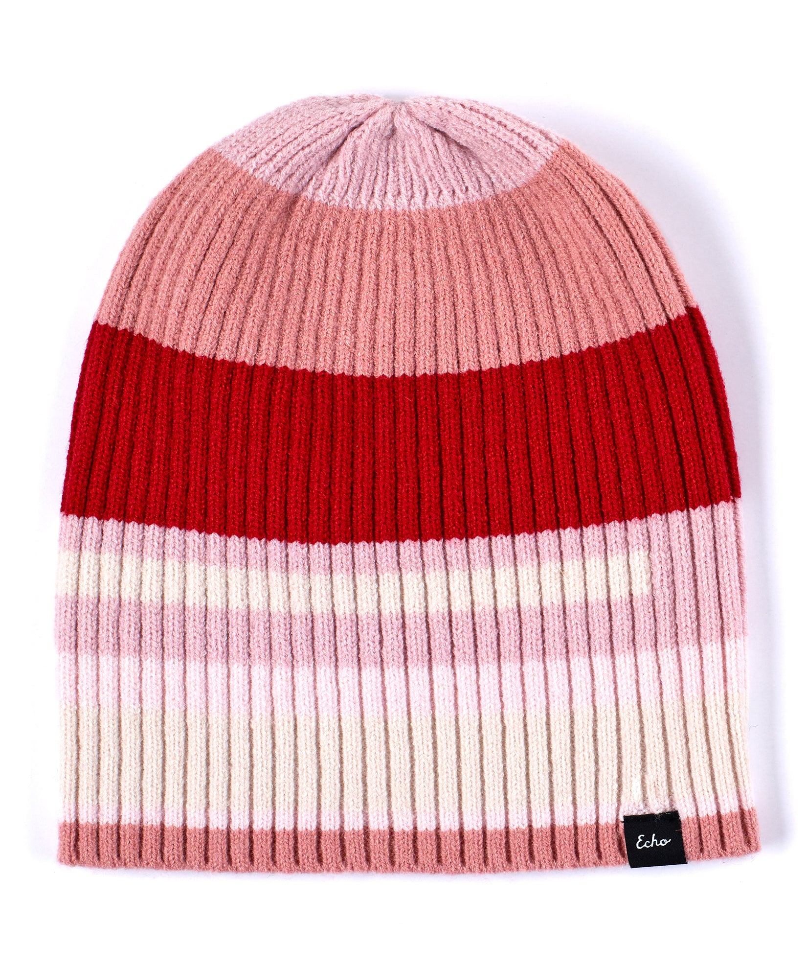 Ruby Red - Active Stretch Color Block Beanie
