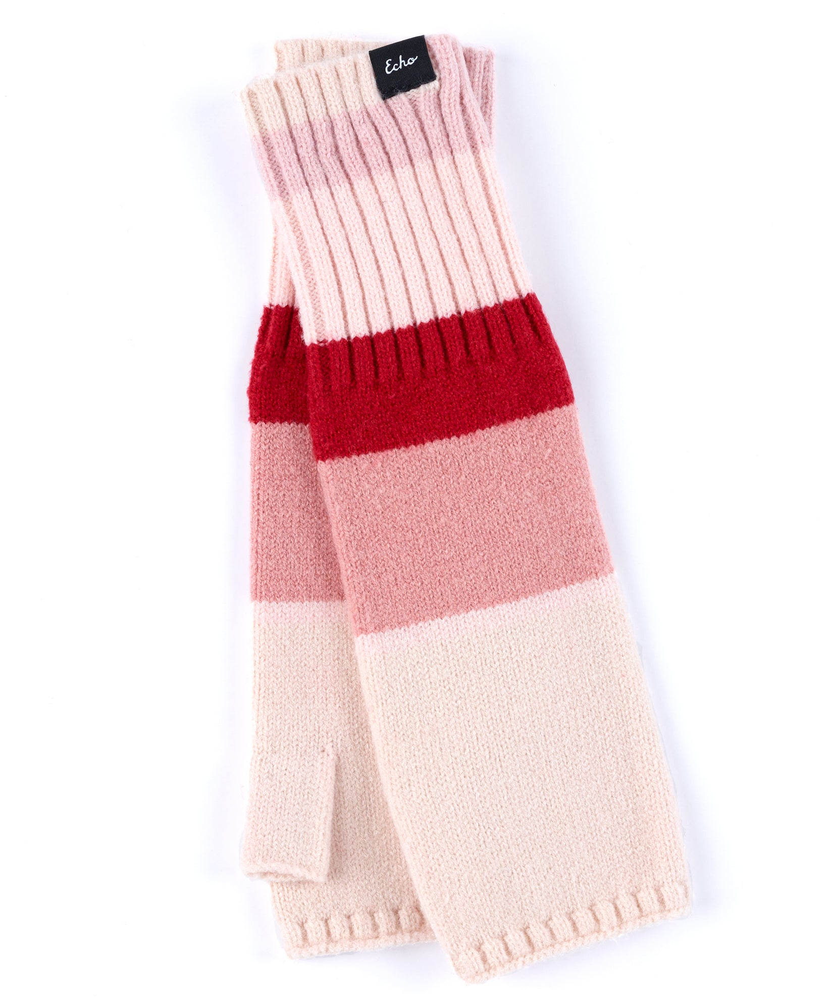 Ruby Red - Active Stretch Color Block Fingerless