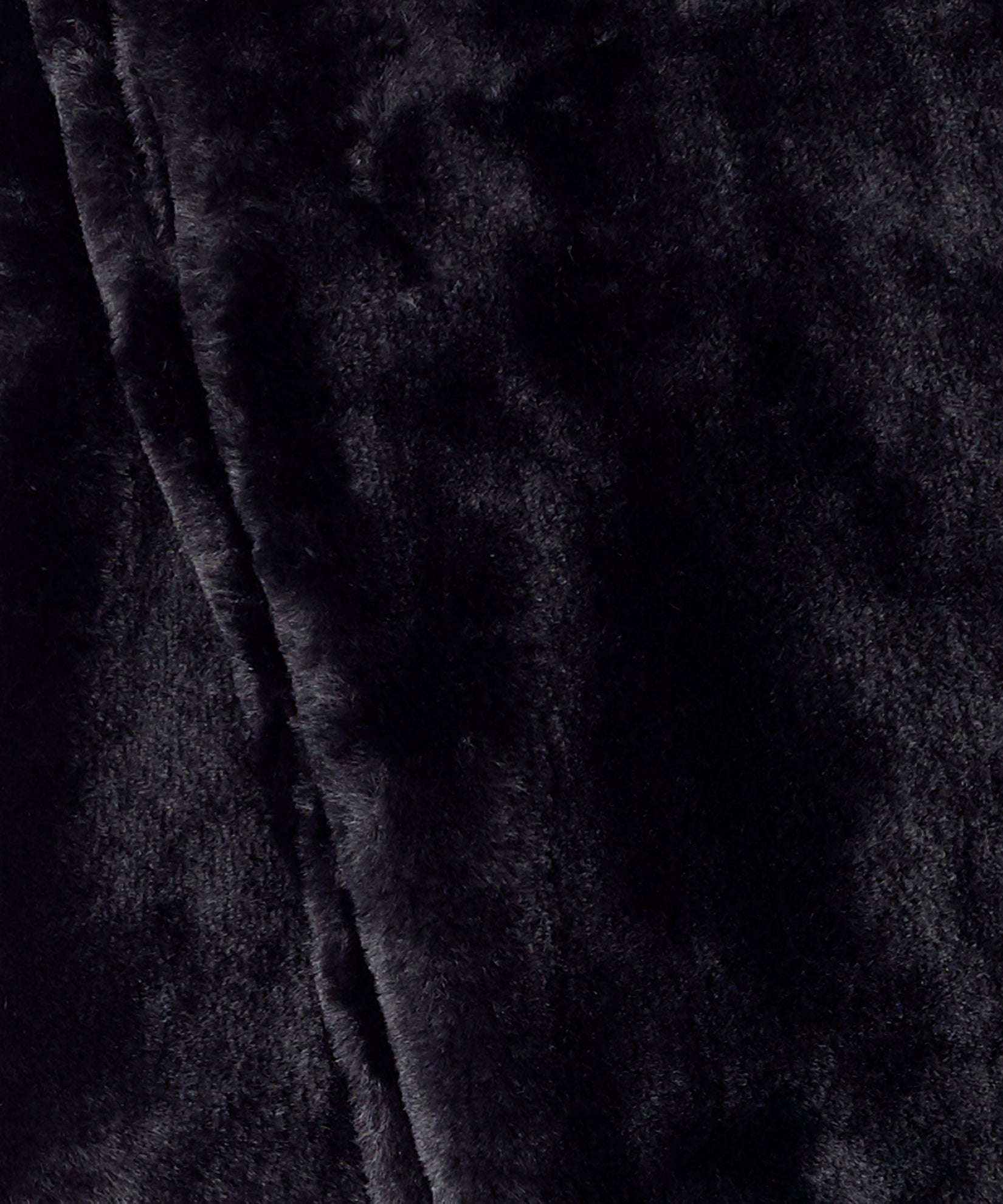 Echo Black - Long Faux Fur Loop
