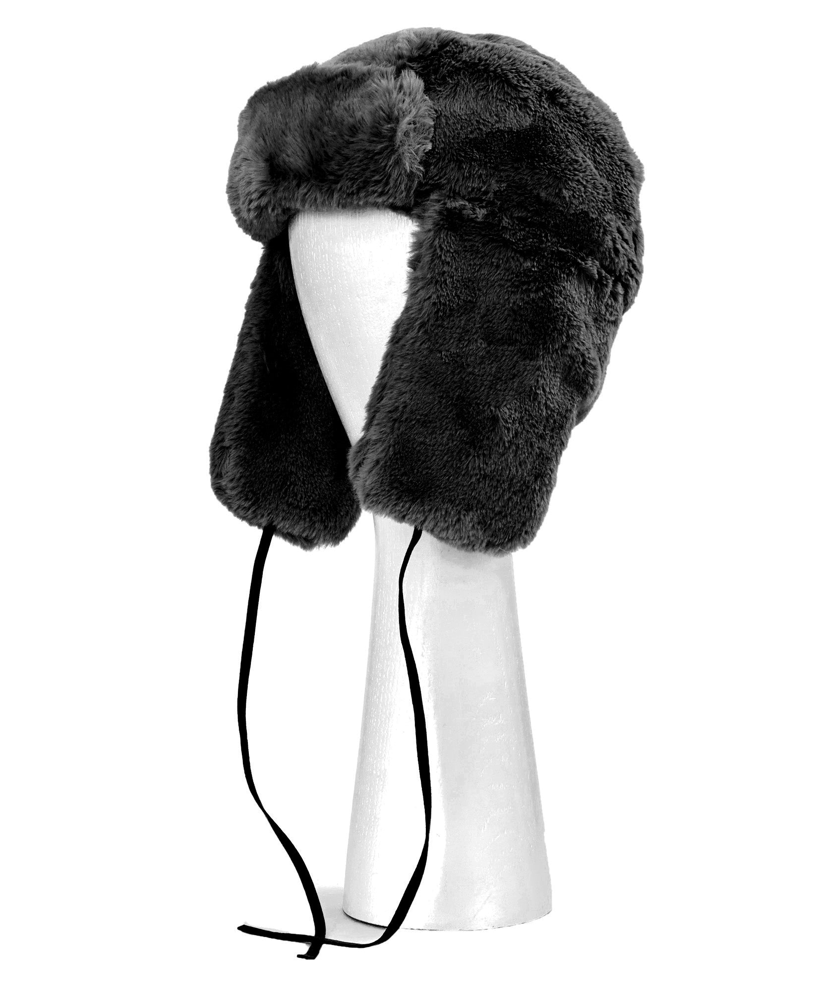 Echo Black - Faux Fur Trapper