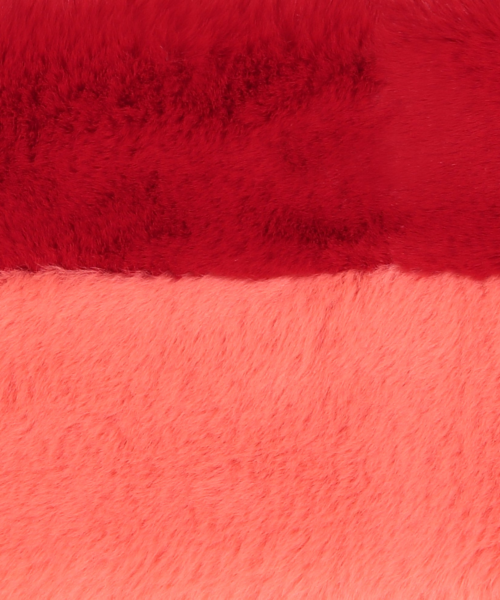 Ruby Red - Pull Through Faux Fur Colorblock Stole