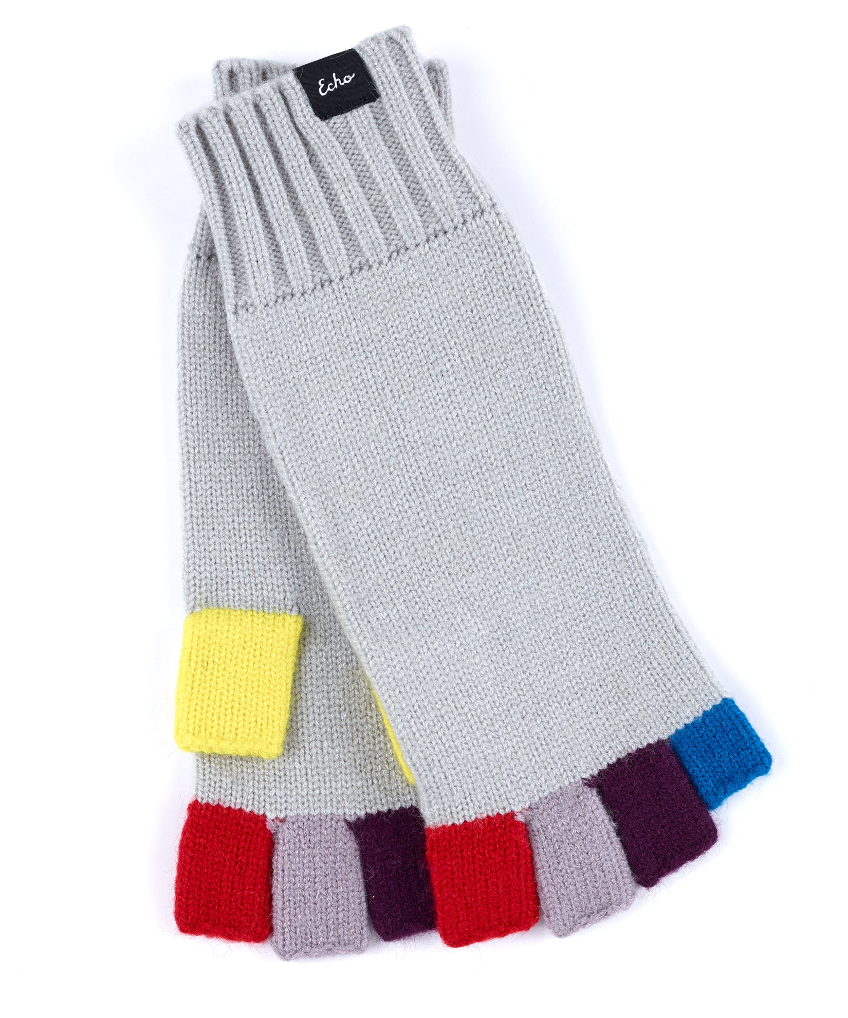 Echo Silver - Color Block Fingerless
