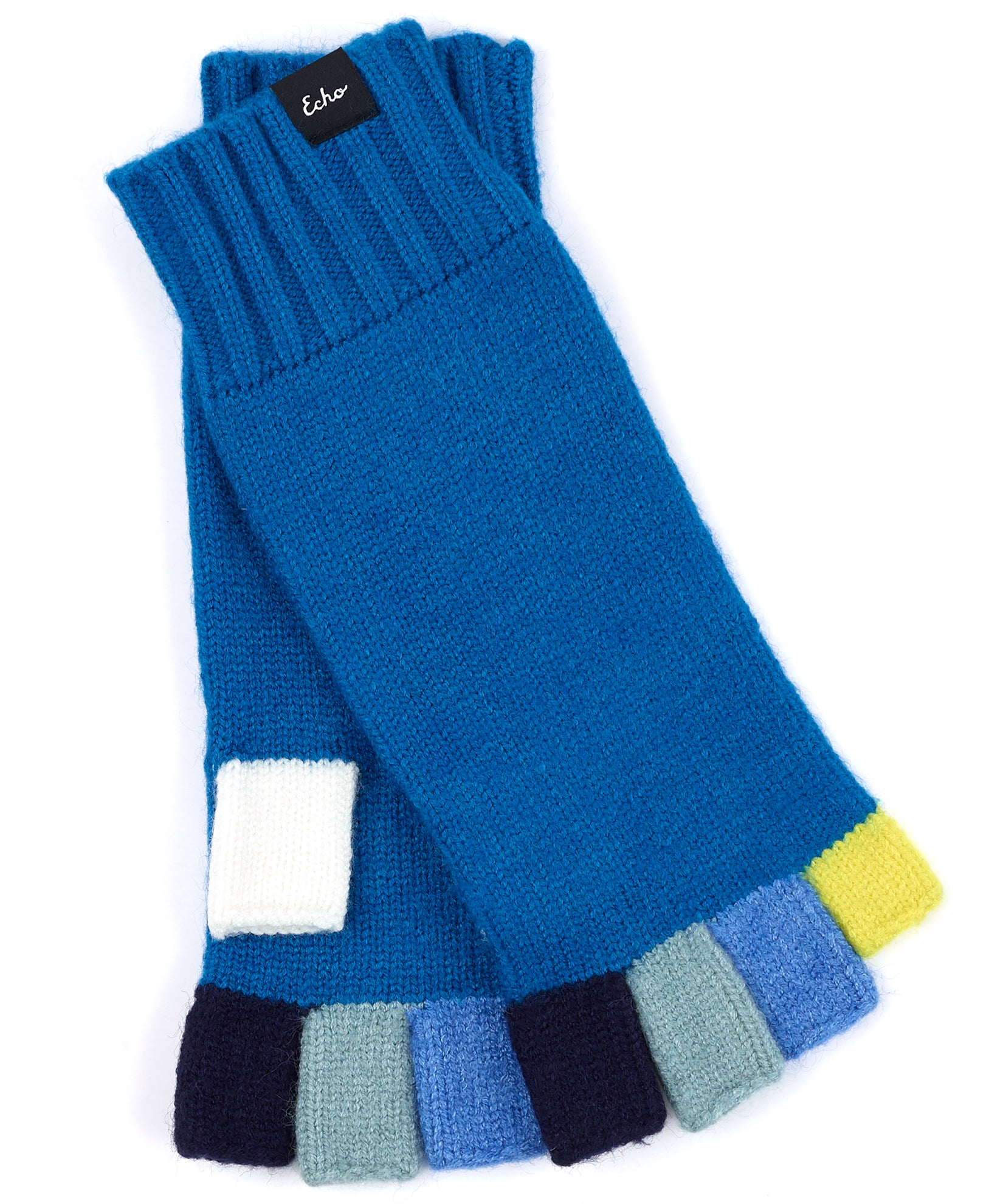 Peacock - Color Block Fingerless