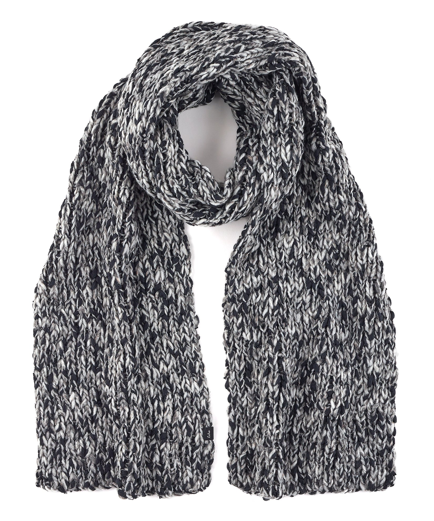 Echo Black - Heathered Roving Scarf