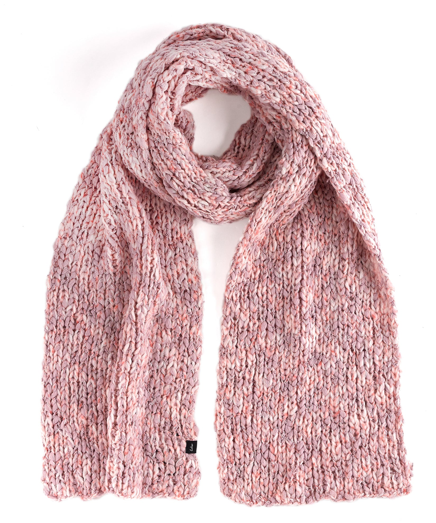 Jaipur Pink - Heathered Roving Scarf