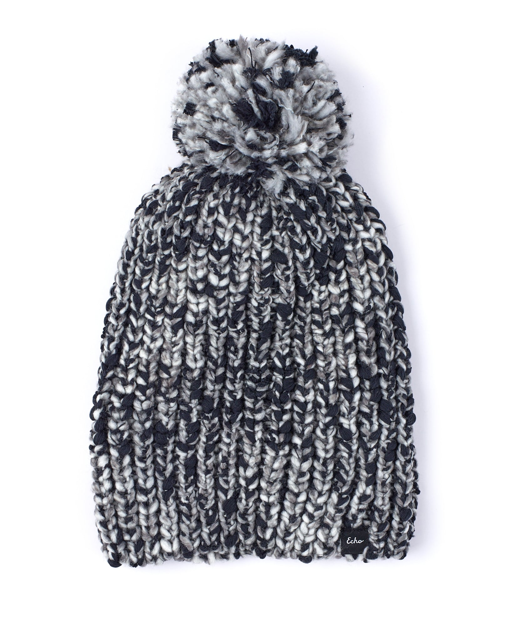 Echo Black - Heathered Roving Hat With Pom