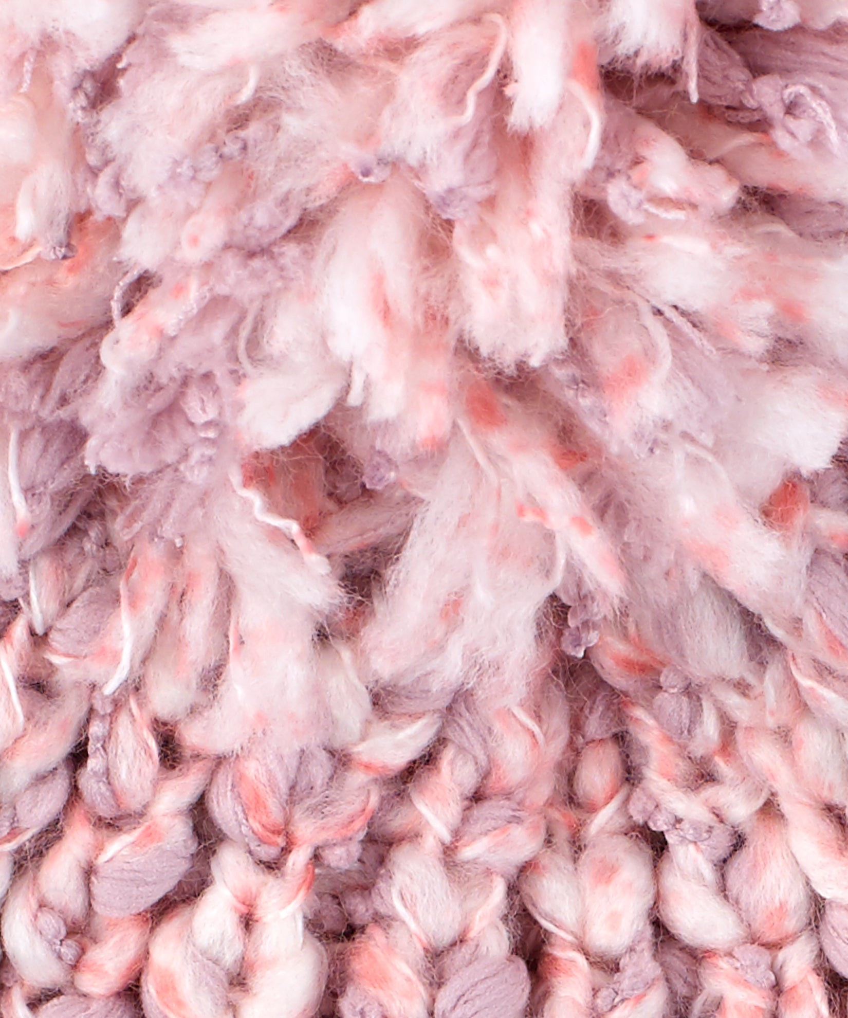 Jaipur Pink - Heathered Roving Hat With Pom