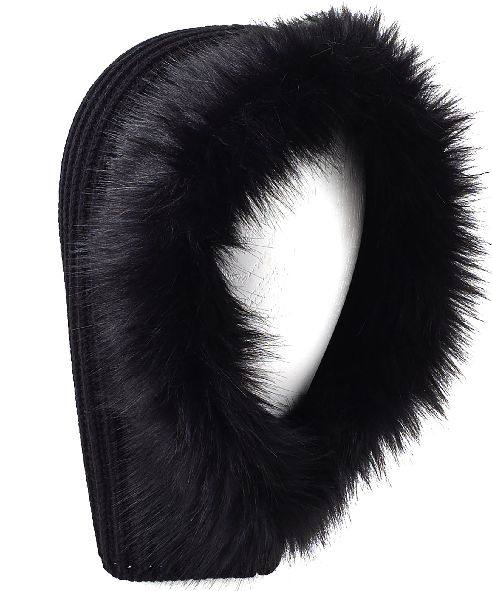 Echo Black - Balaclava With Faux Fur