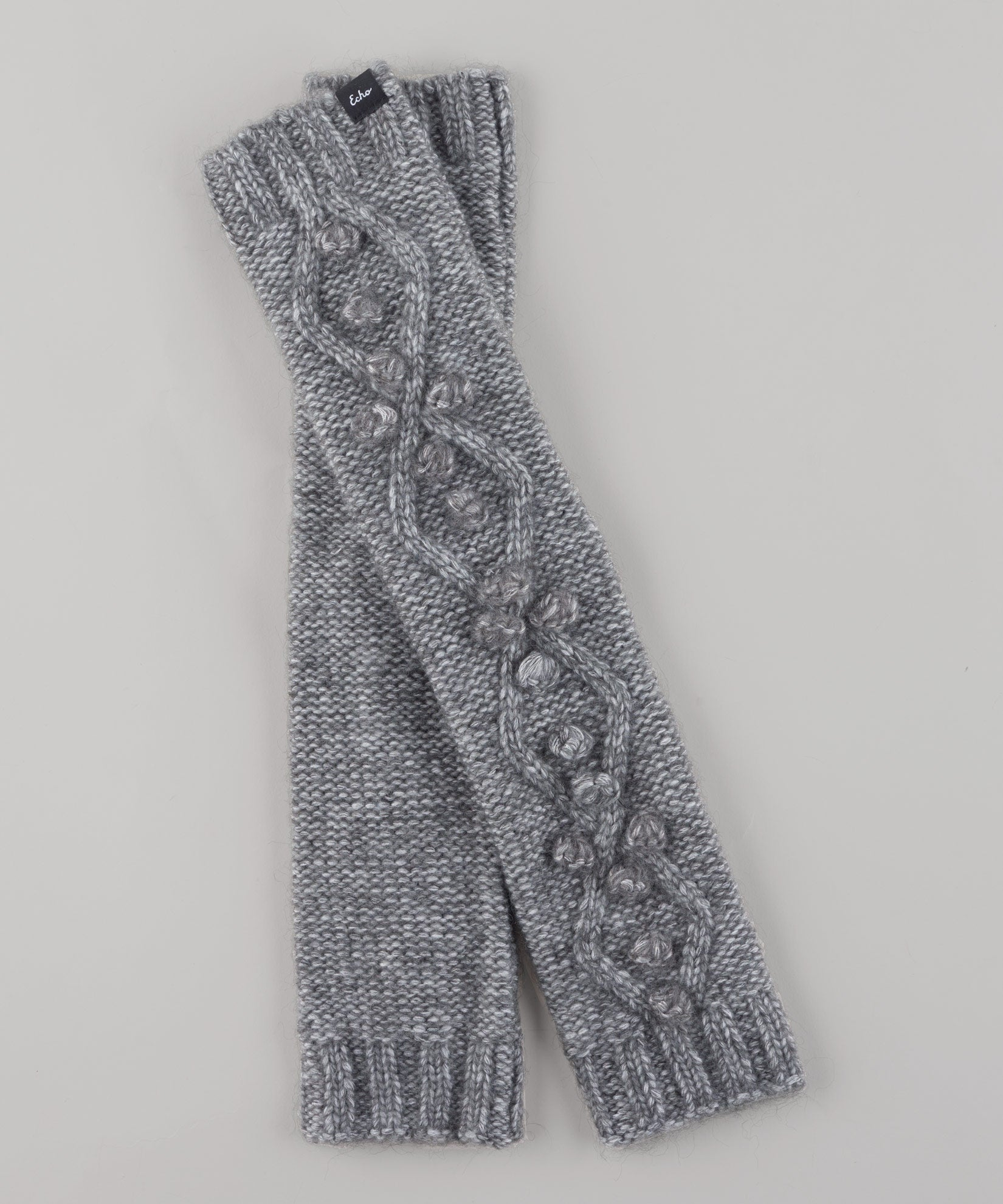 Echo Charcoal - Argyle Textured Arm Warmer