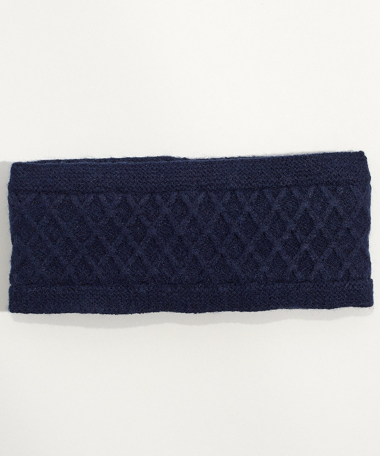 Echo Navy - Diamond Cable Headband