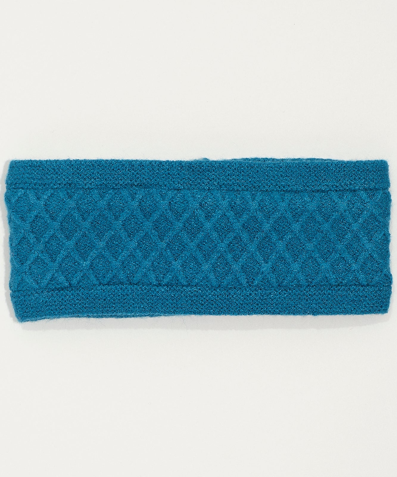 Teal - Diamond Cable Headband