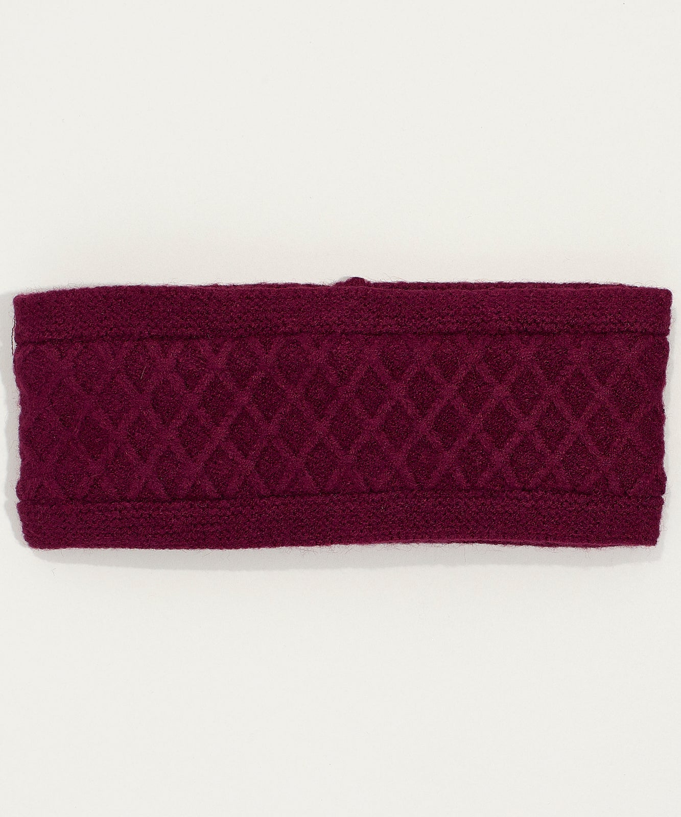 Boysenberry - Diamond Cable Headband