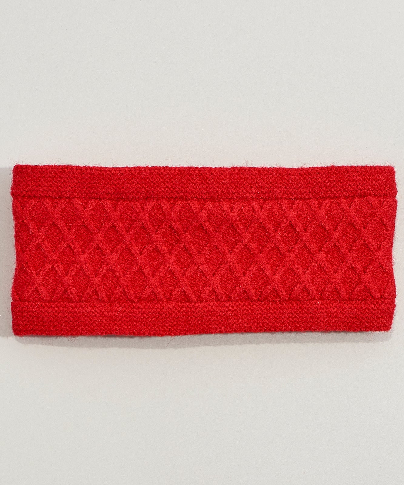 Cherry Red - Diamond Cable Headband