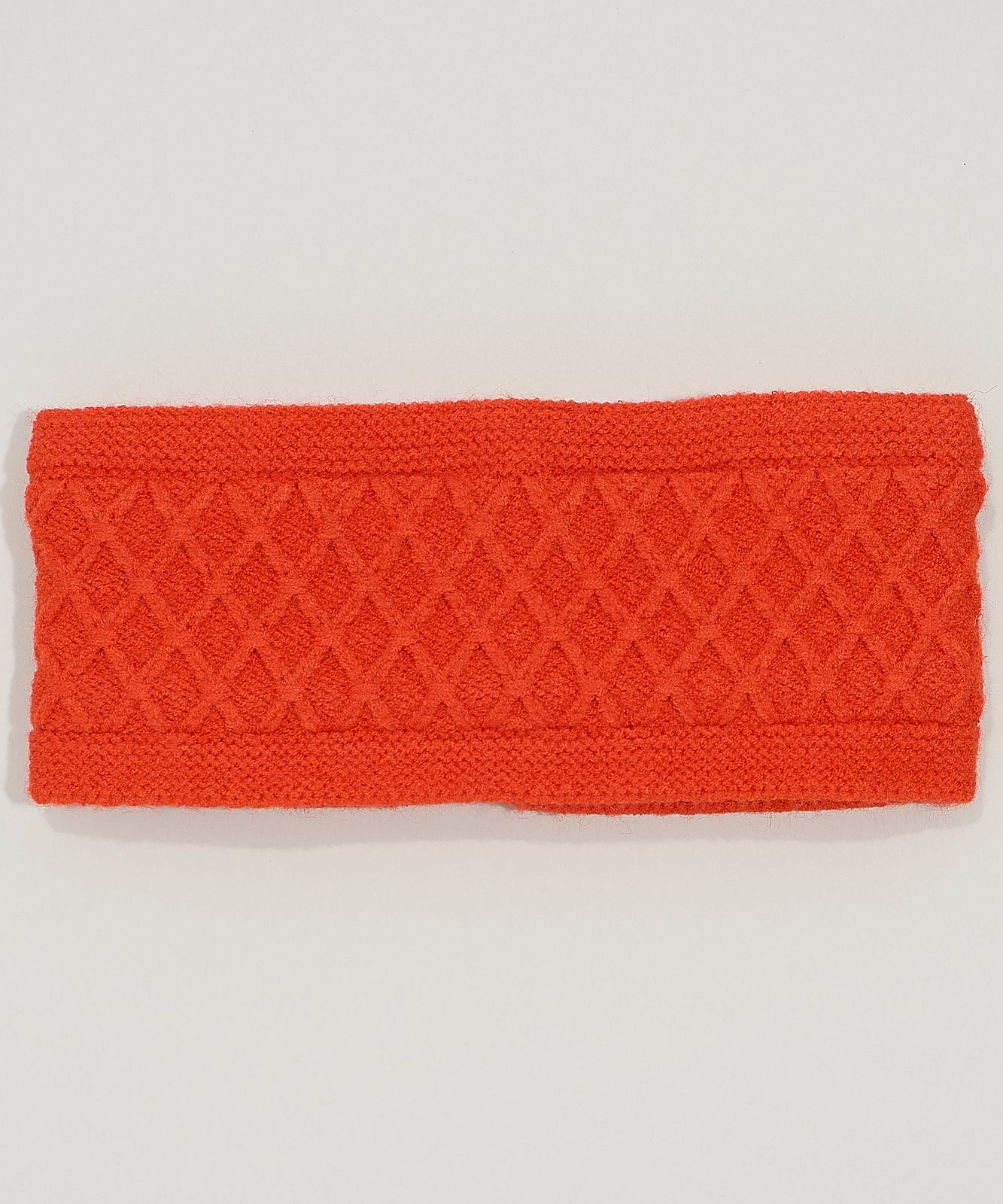 Orange Poppy - Diamond Cable Headband