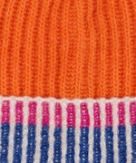 Orange Poppy - Lollipop Beanie With Pom