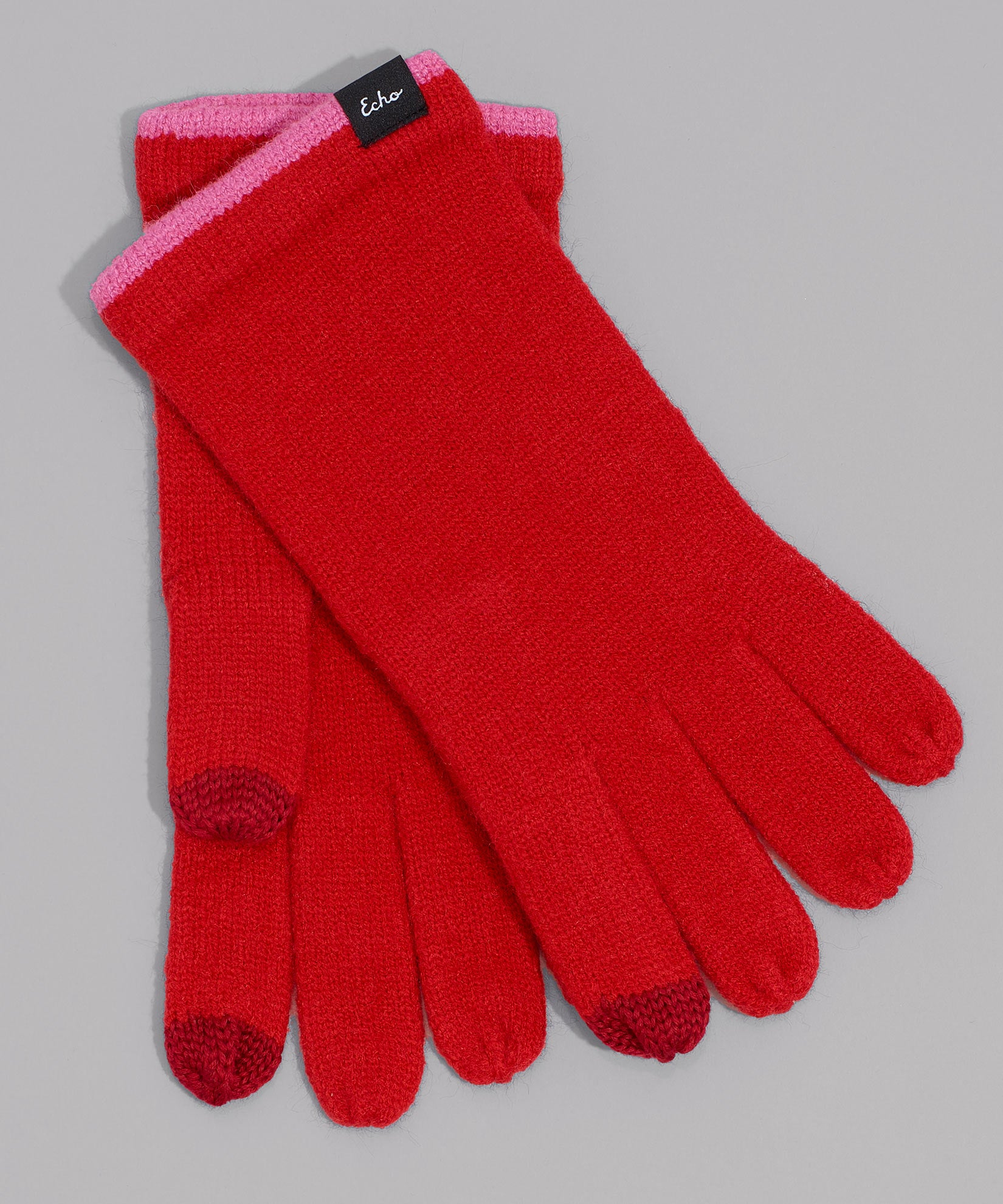 Cherry Red - Echo Touch Glove With Tipped Edge