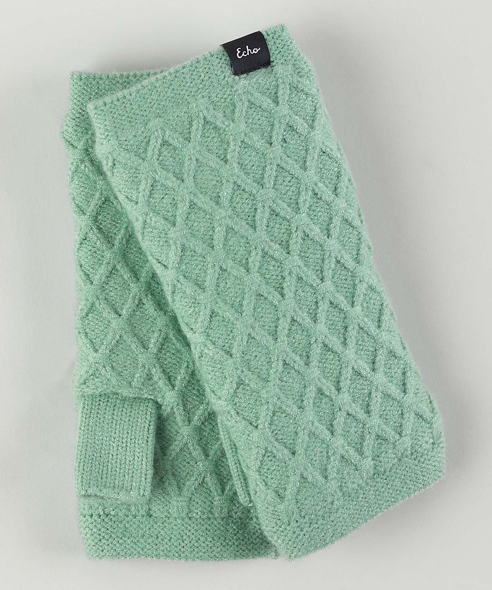 Jade Mint - Diamond Fingerless Glove