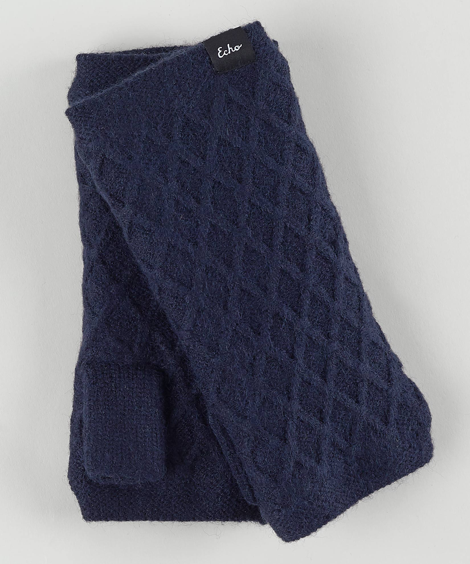 Echo Navy - Diamond Fingerless Glove