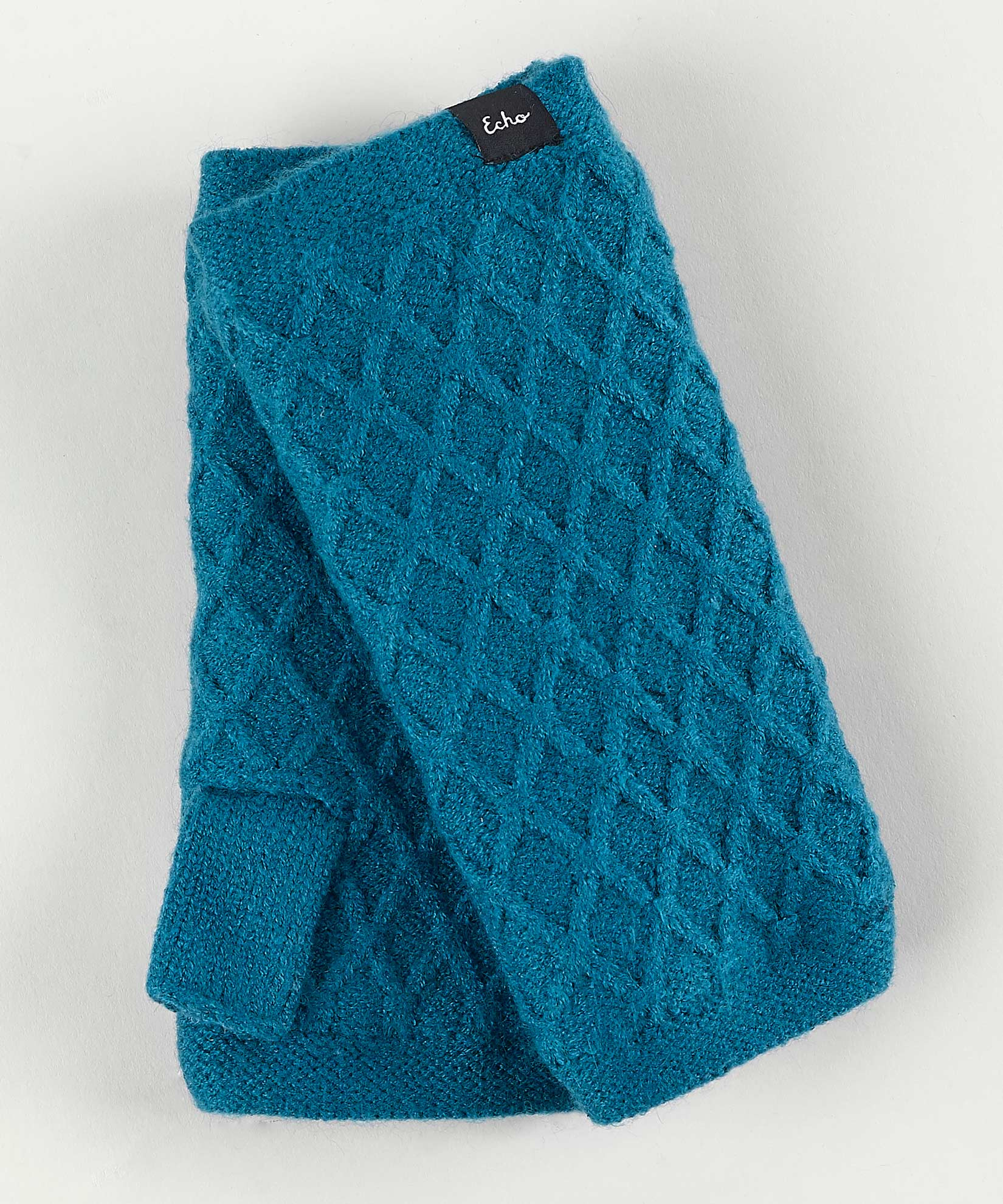 Teal - Diamond Fingerless Glove