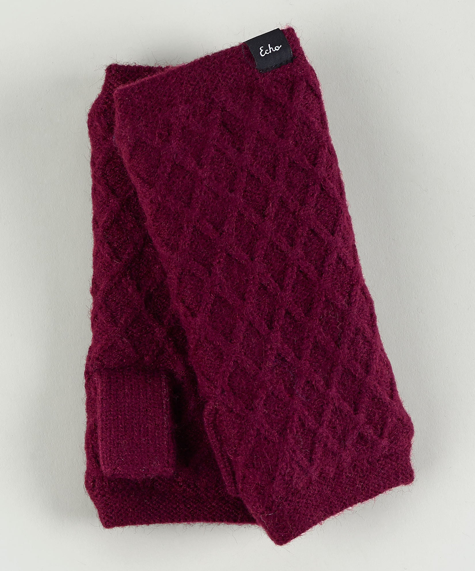 Boysenberry - Diamond Fingerless Glove