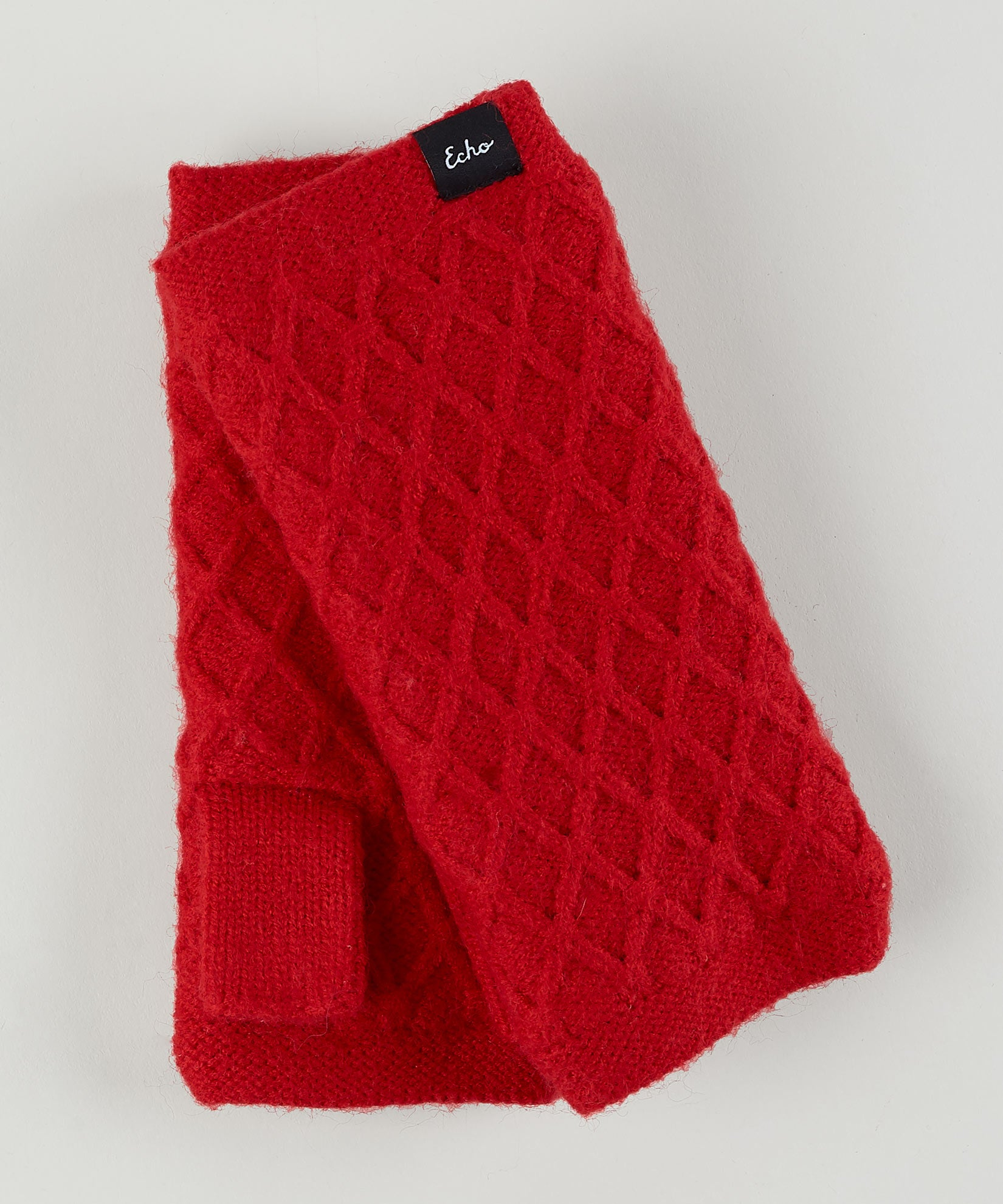 Cherry Red - Diamond Fingerless Glove
