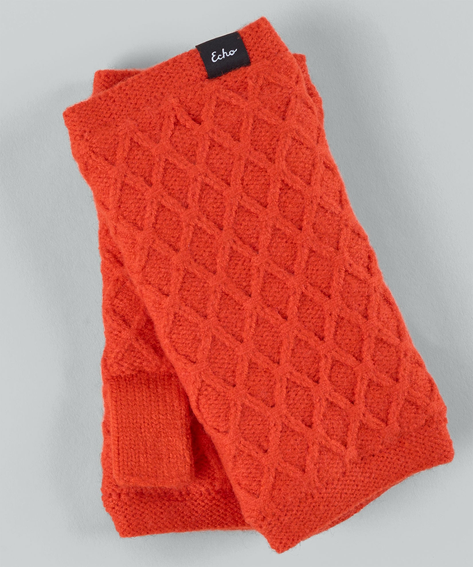 Orange Poppy - Diamond Fingerless Glove