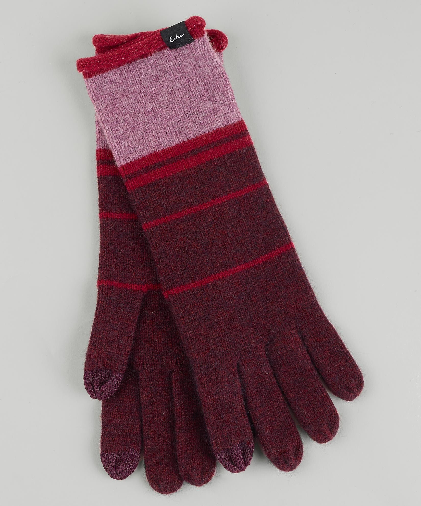 Fig - Colorblock Cashmere Blend Luxe Glove