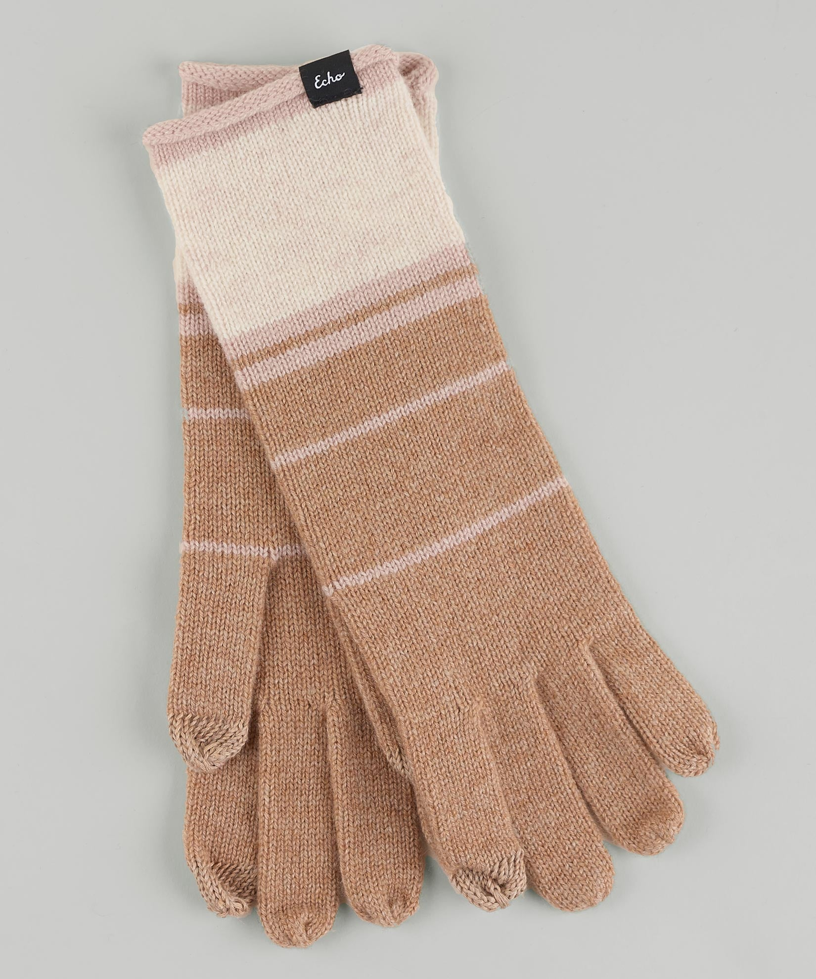Teak - Colorblock Cashmere Blend Luxe Glove