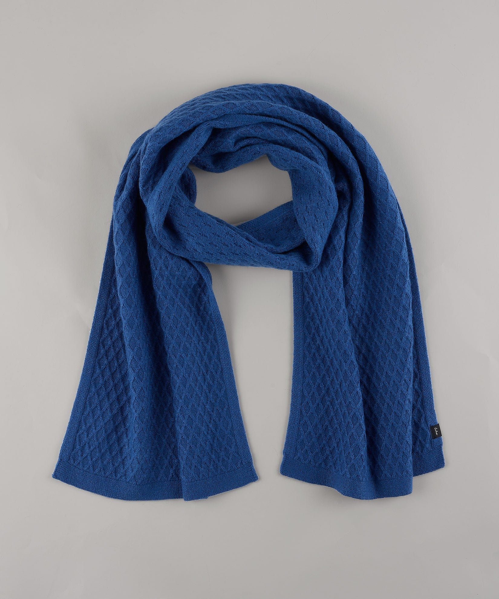 Denim Blue - Diamond Textured Muffler