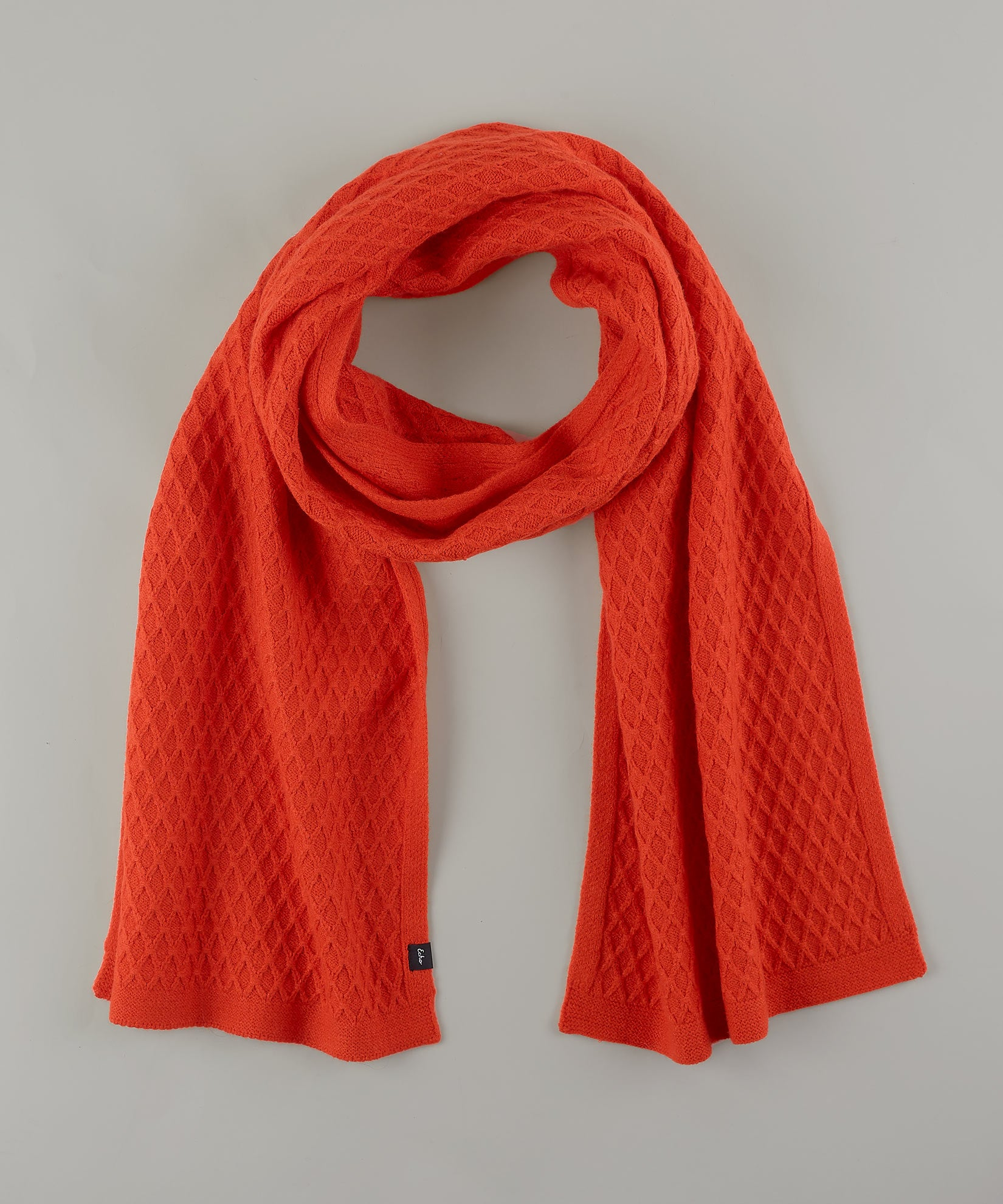 Orange Poppy - Diamond Textured Muffler