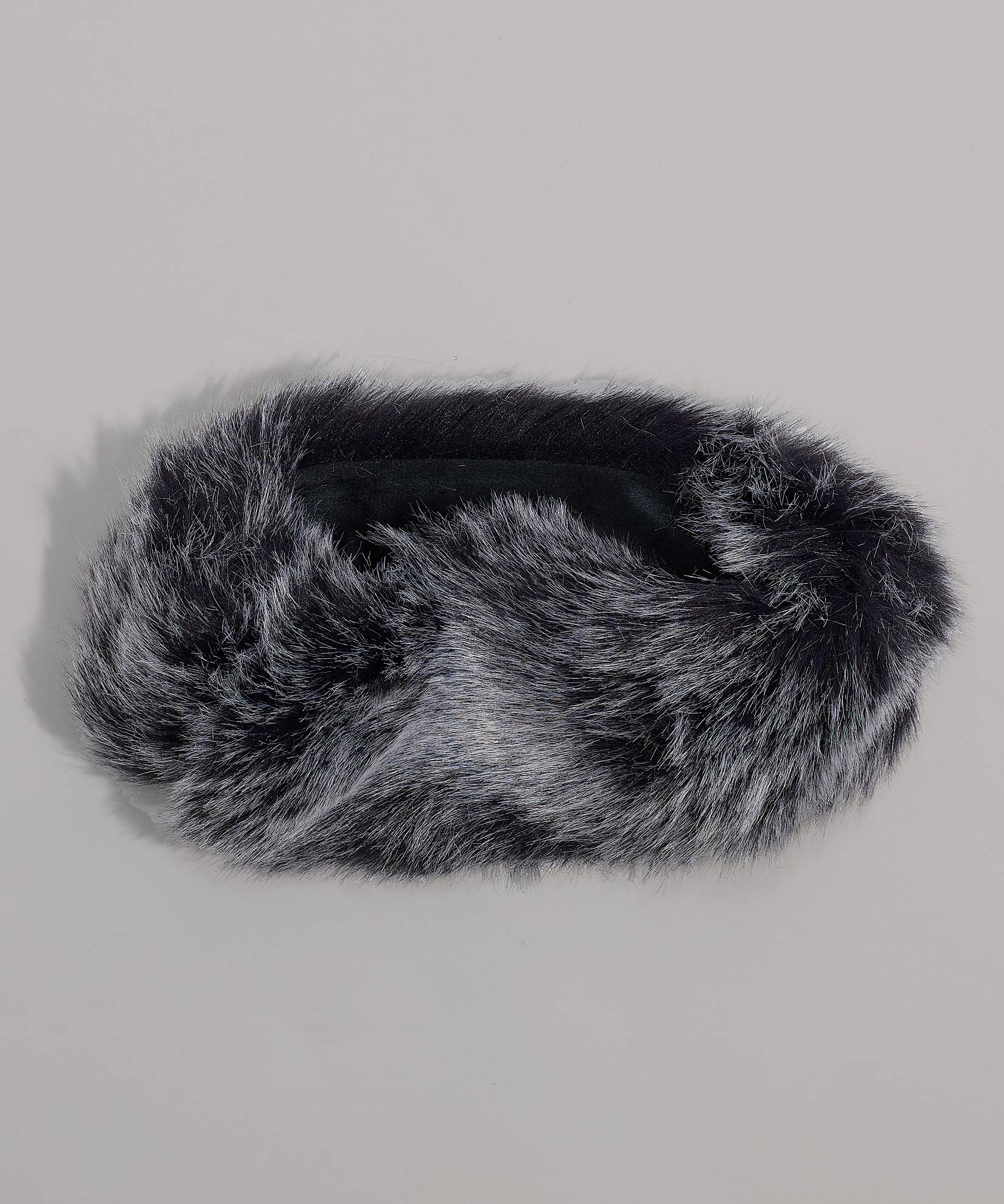 Echo Black - Multi Use Faux Fur Neck Ring Headband
