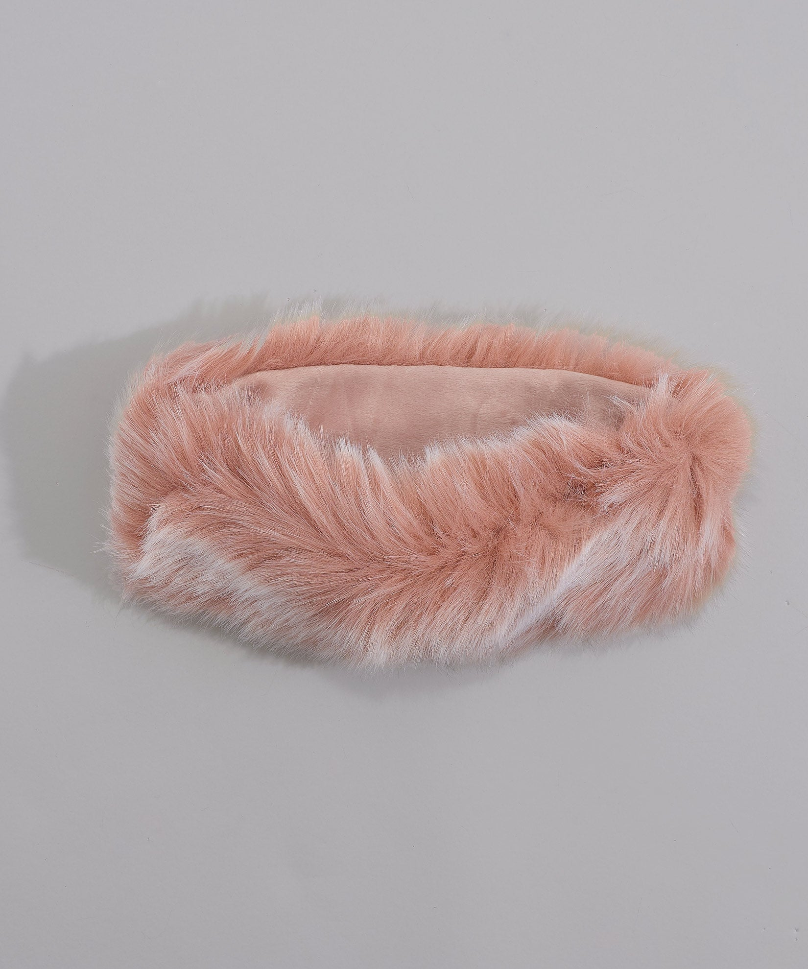 Blush - Multi Use Faux Fur Neck Ring Headband