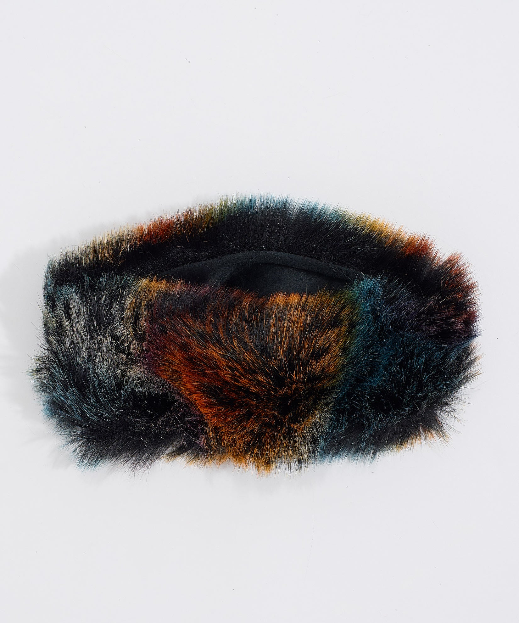 Multi - Multi Use Faux Fur Neck Ring Headband
