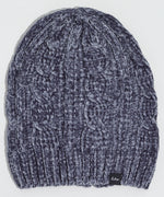 Echo Charcoal - Chenille Slouchy Hat with Cables