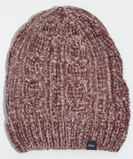 Fig - Chenille Slouchy Hat with Cables