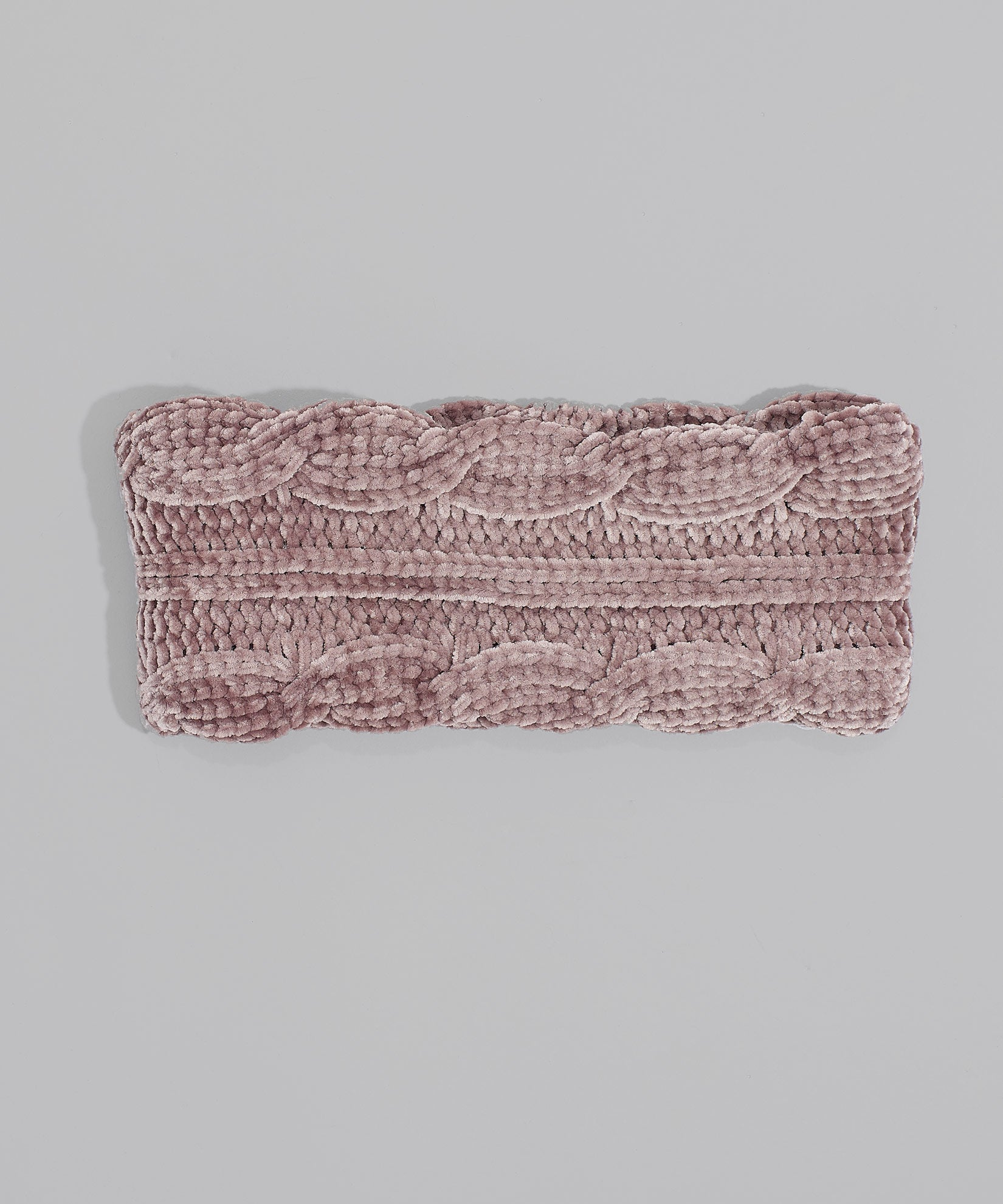 Fig - Chenille Headband With Cables