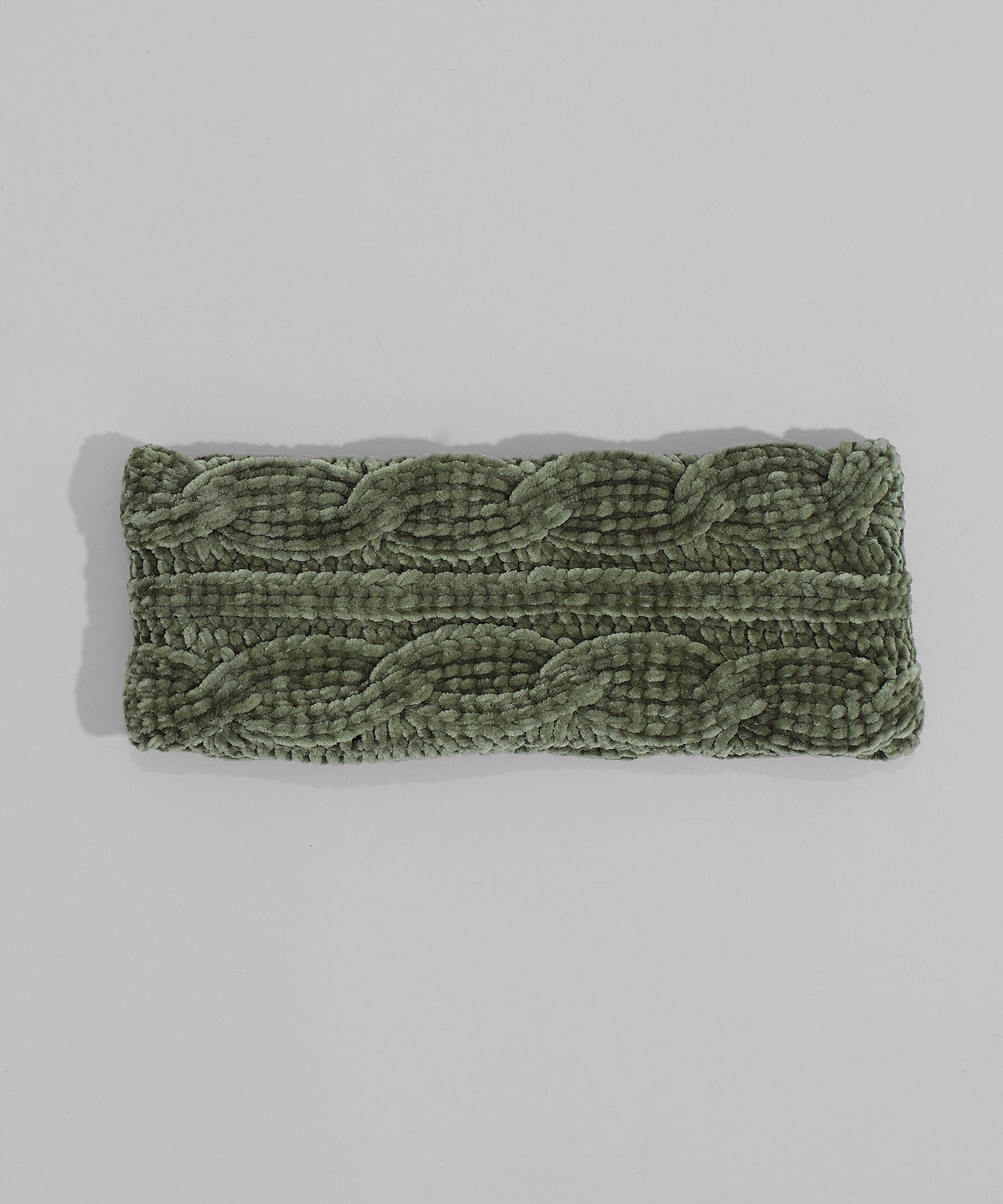 Olive - Chenille Headband With Cables