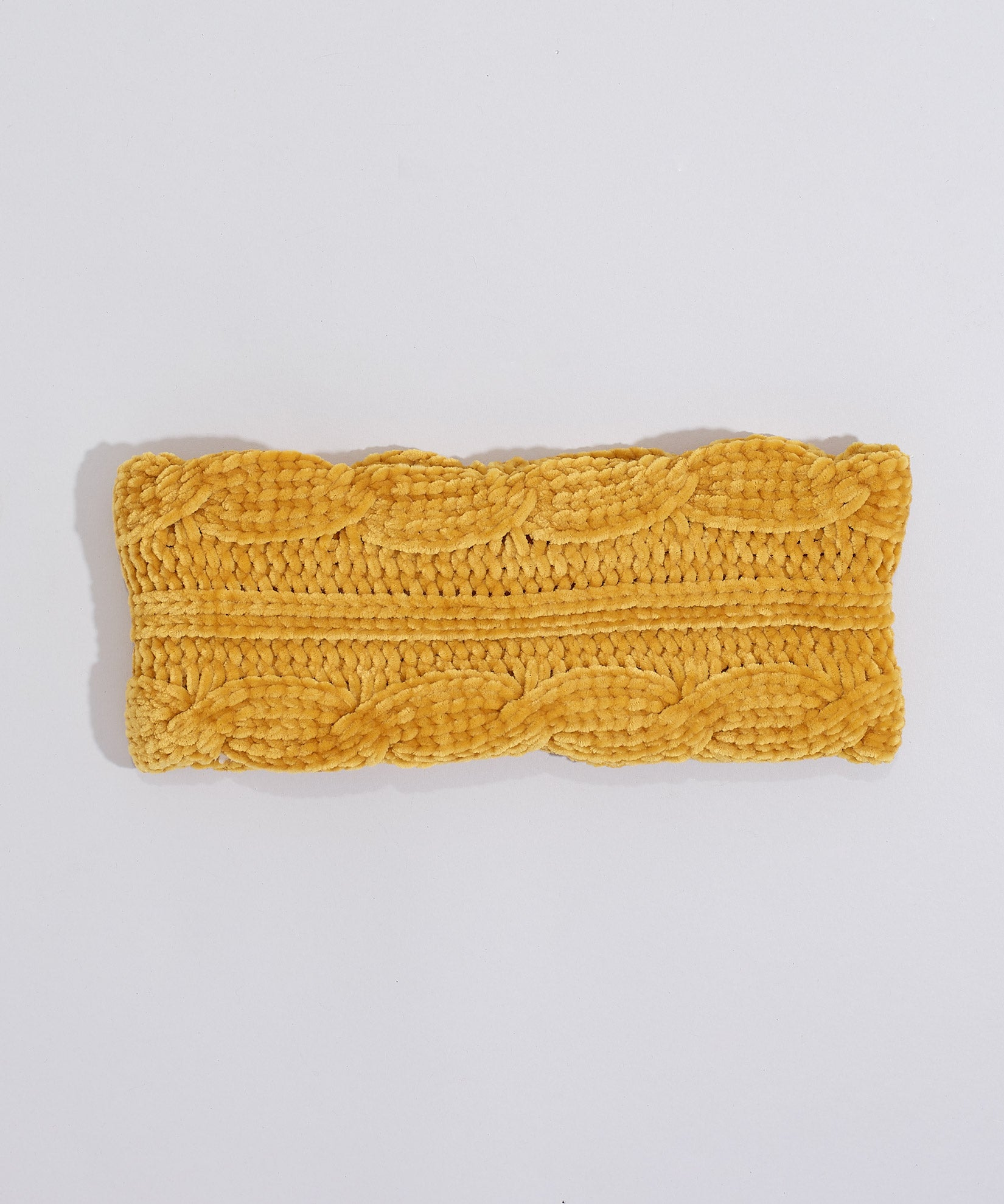 Gold - Chenille Headband With Cables