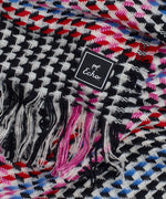Black - Multicolor Houndstooth Muffler