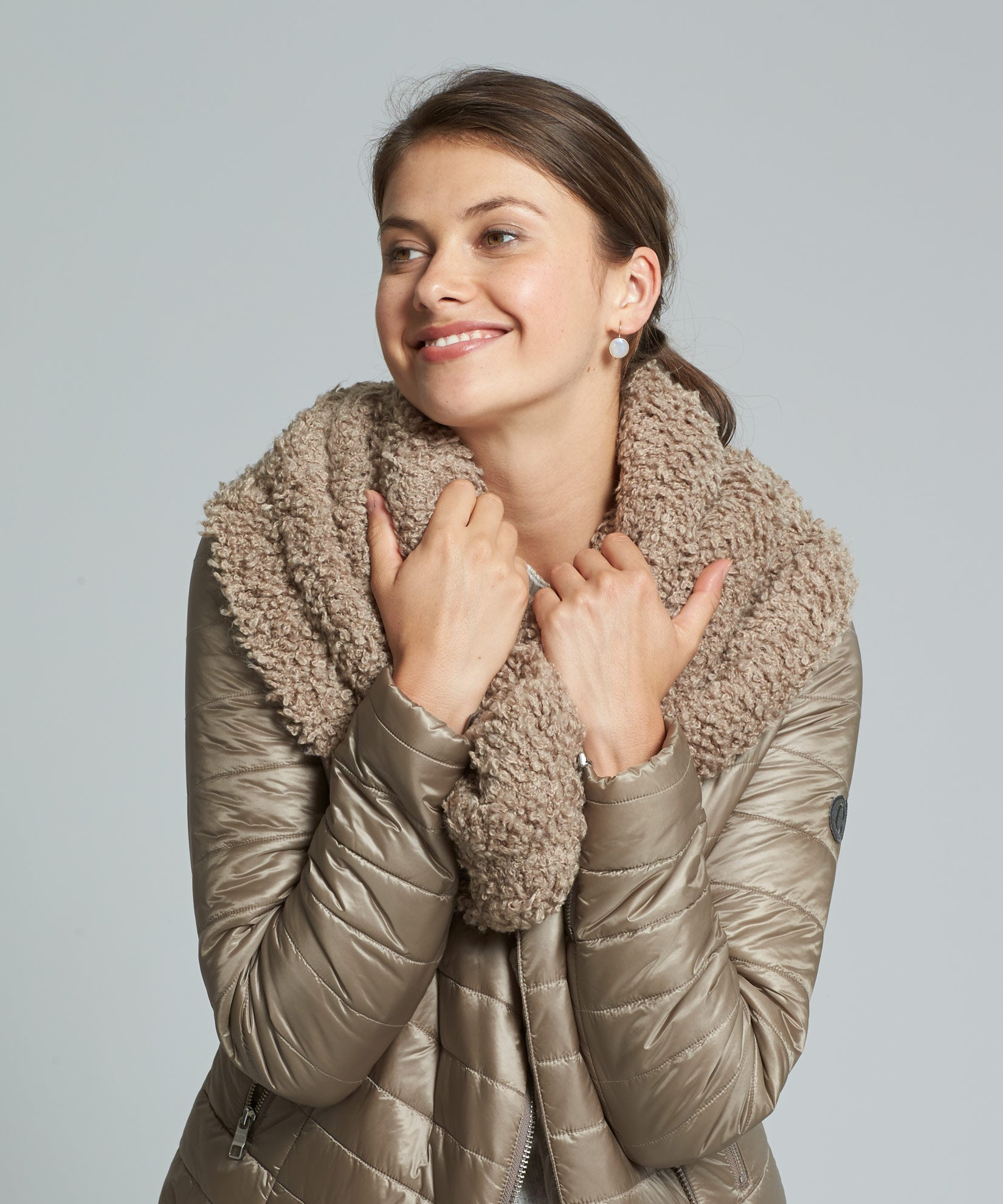 Teak - Boucle Double Layered Snood