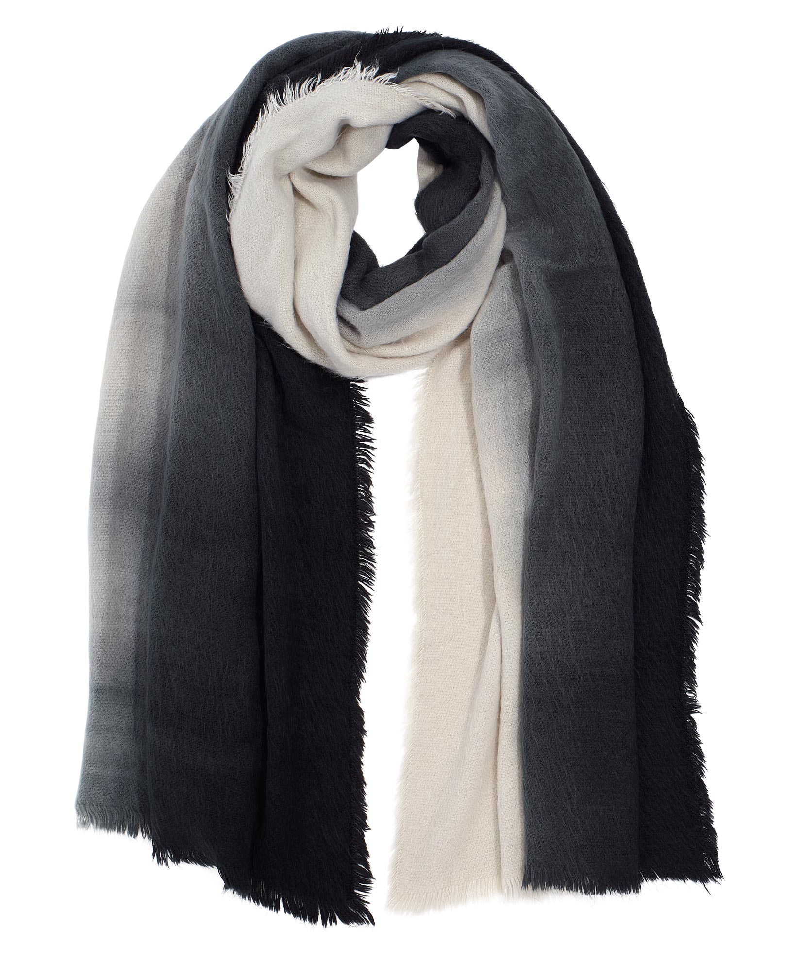 Echo Black - Brushed Ombre Scarf