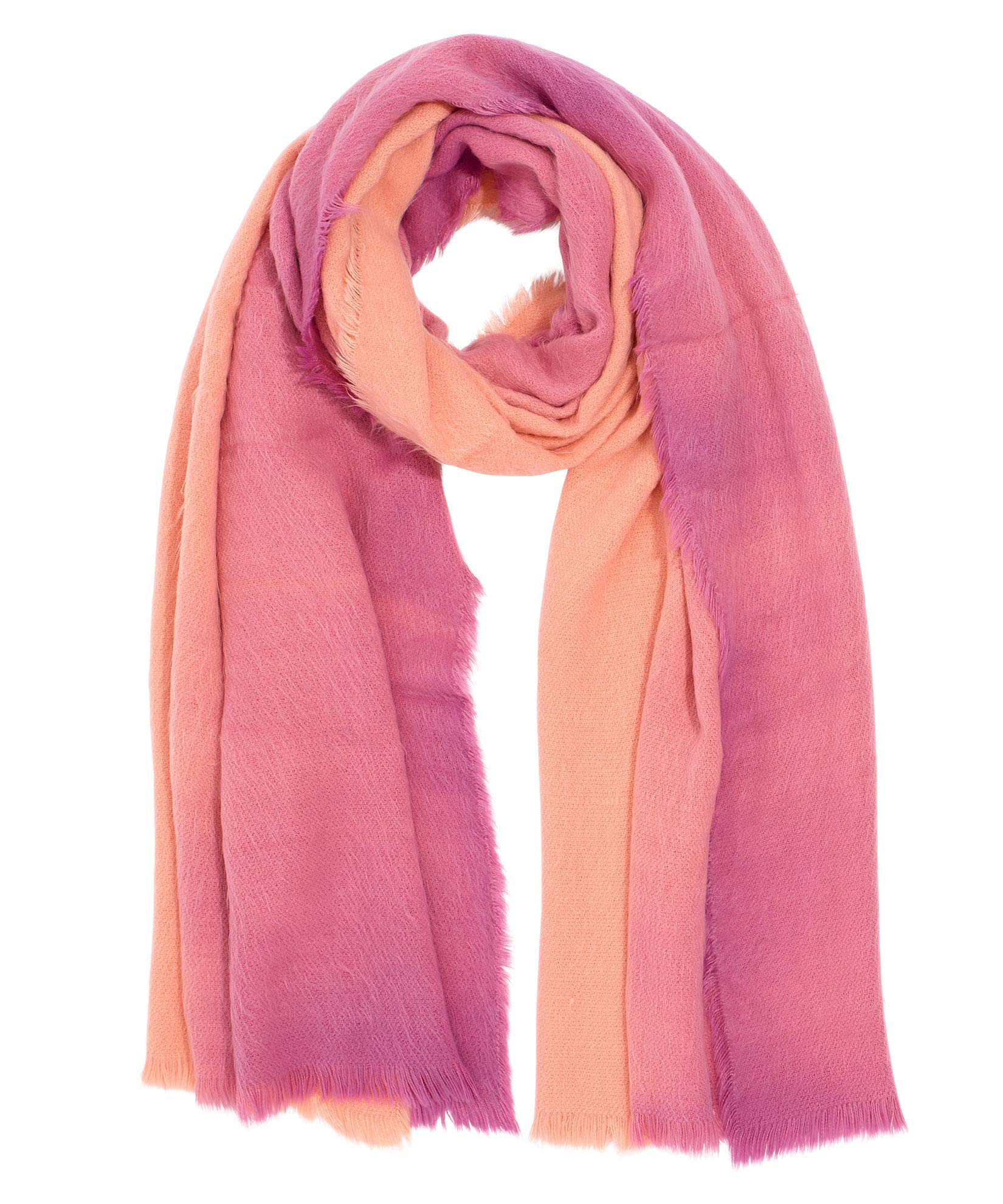 Peach Pink - Brushed Ombre Scarf