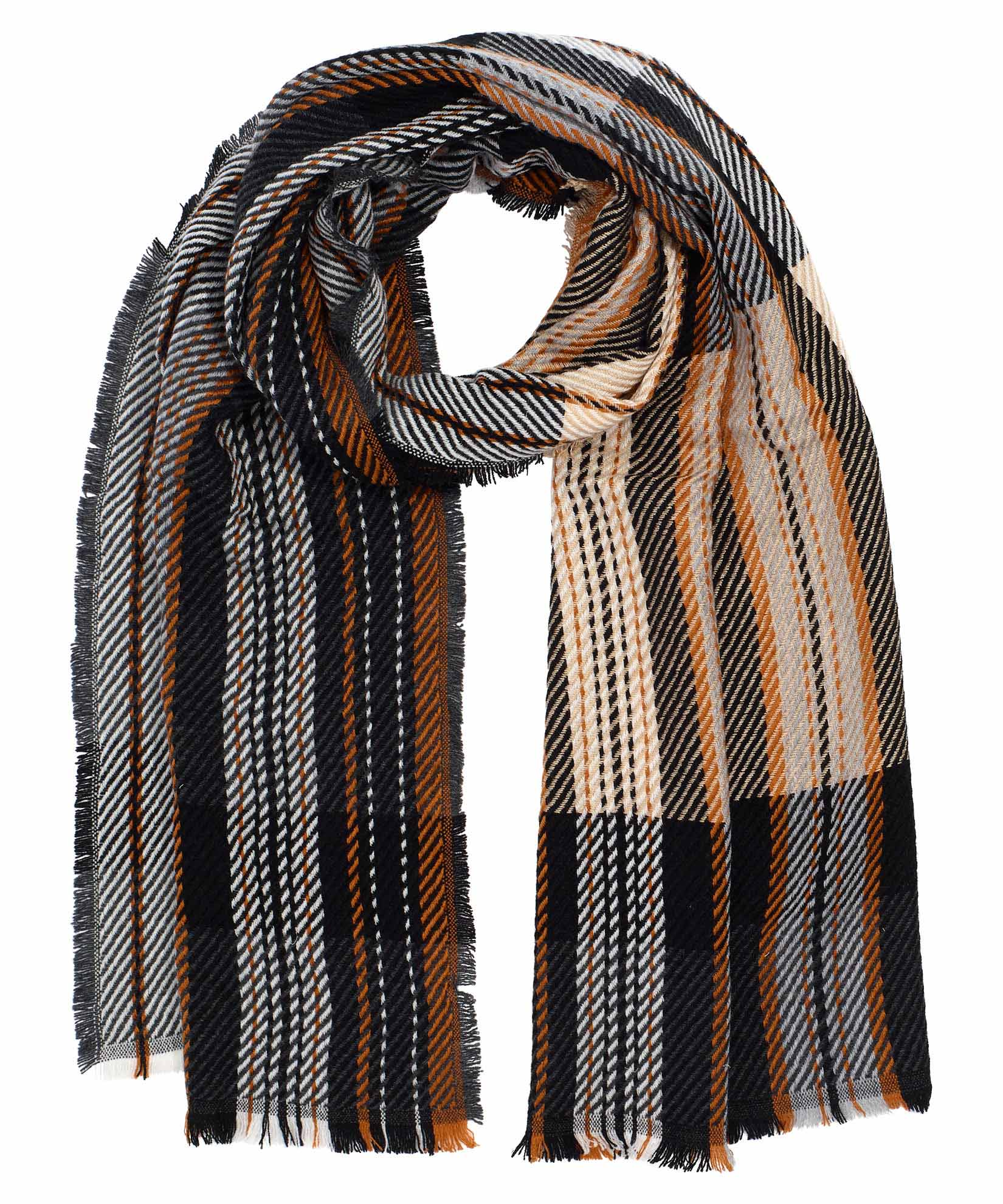 Black - Exploded Twill Scarf