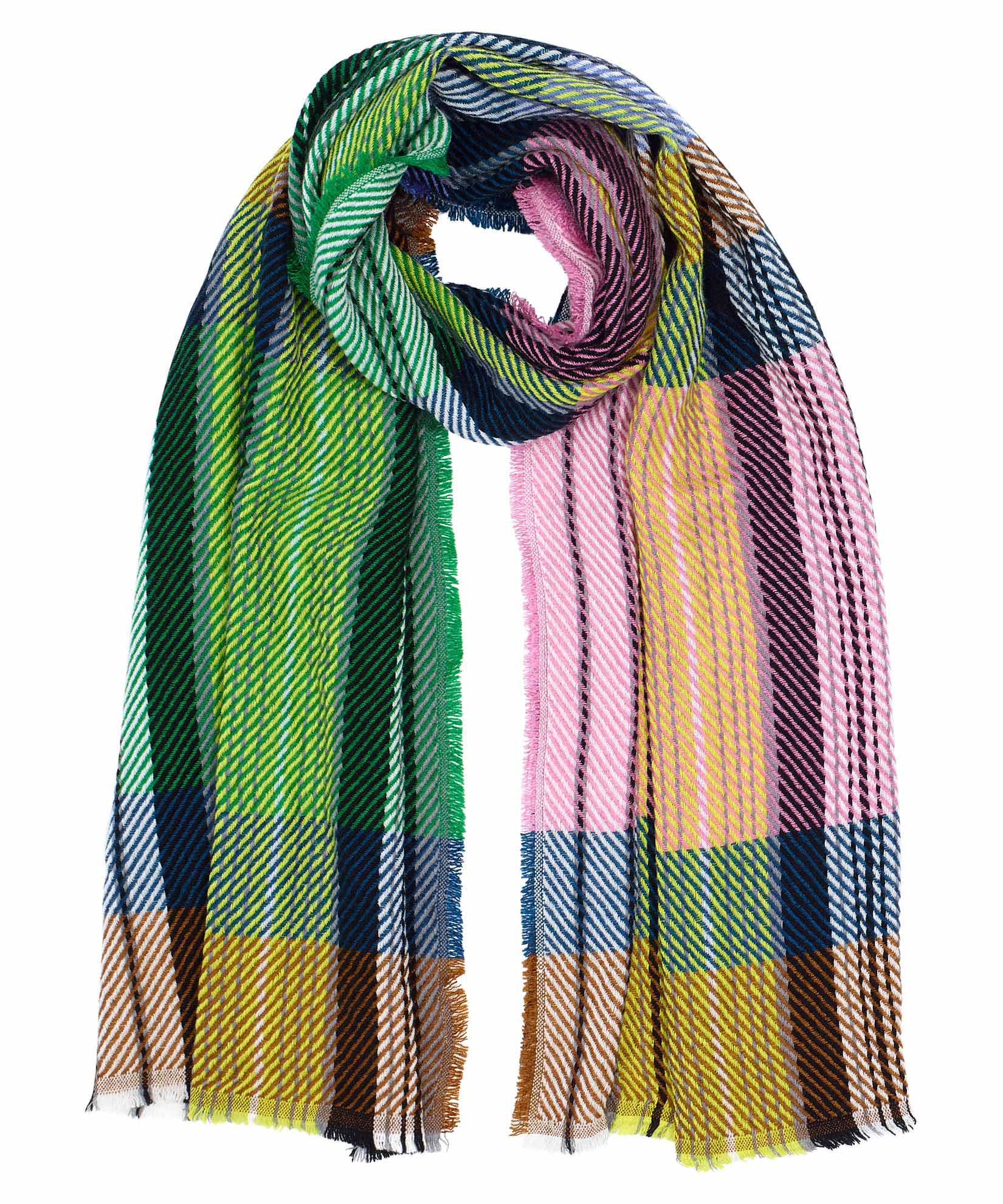 Multi - Exploded Twill Scarf